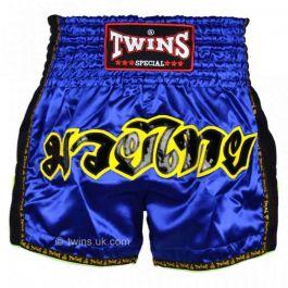 Twins Retro Muay Thai Shorts - Blue