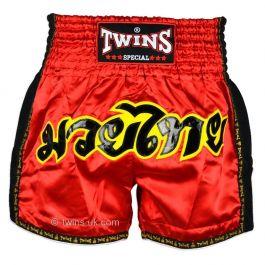 Twins Retro Muay Thai Shorts - Red