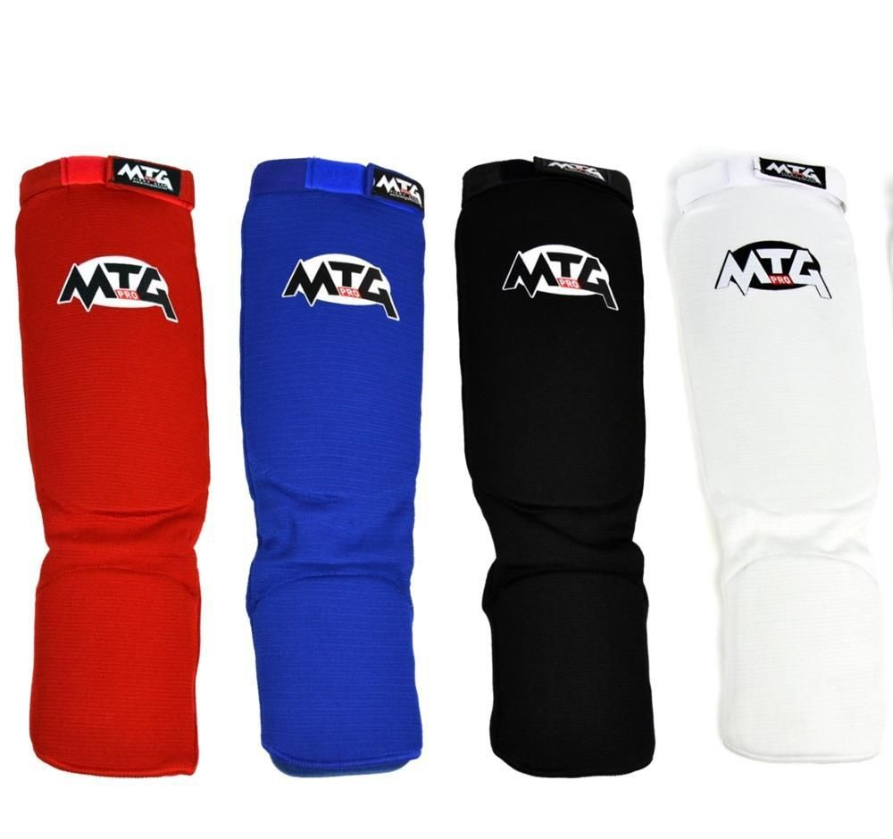 MTG Pro Shin Pads Muay Thai Shin Guards MMA Kickboxing Shin Instep Leg Guards