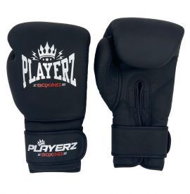 Playerz Mexican Style Boxing Gloves - Matt Black