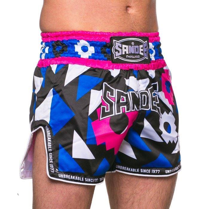 Black /& Green Sandee Muay Thai Shorts Inca Blue Medium